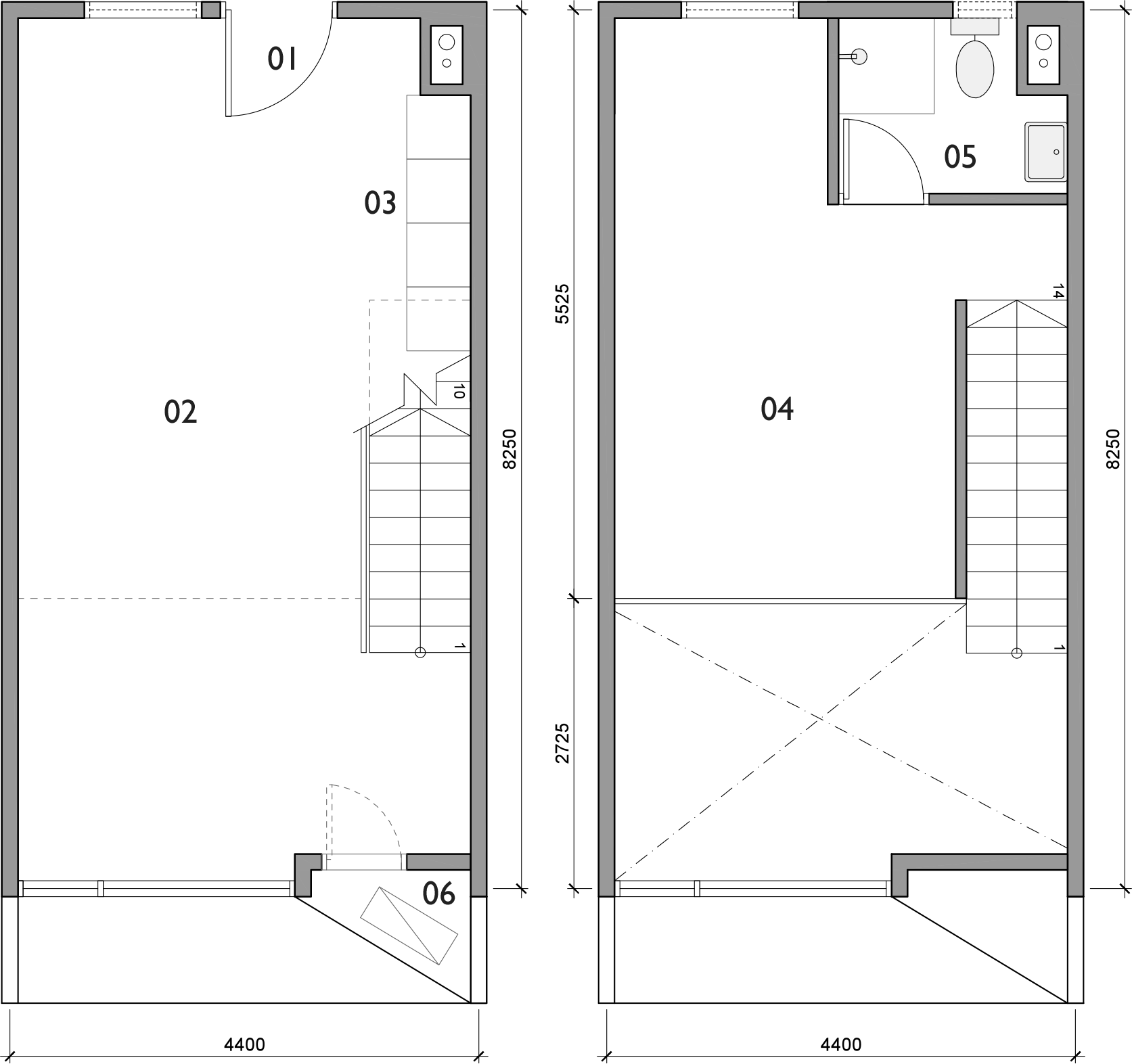 Plan for Loft unit